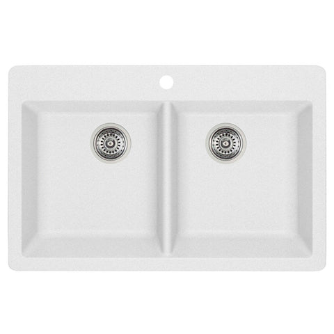 Blanco 401668 Metallic Gray - Double Bowl Silgranit Kitchen Sink - Topmount