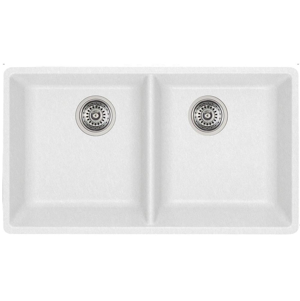 White Kitchen Sink Undermount Blanco 401269 White Double Bowl Silgranit Kitchen Sink