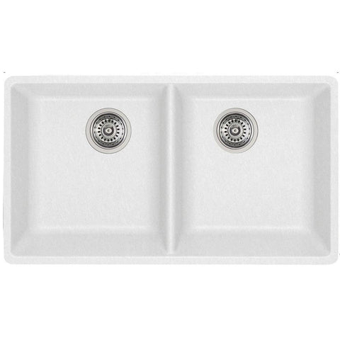 Blanco 401269 White - Double Bowl Silgranit Kitchen Sink - Undermount - 1168955 N