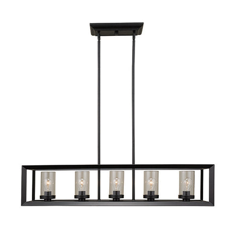 Russell 411-641 ST/BLK - 5 Light Chandelier - 1198796 N