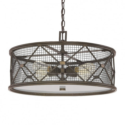 Capital 4894OR - 4 Light Oil Rubbed Bronzed Pendant - DISPLAY MODEL ONLY - 1202012 N