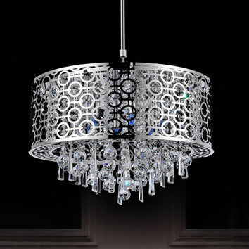 Crystal World 5430P20ST - 6 Light Pendant - 1650094 N
