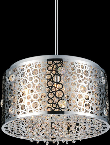 Crystal World 5536P16ST - 6 Light Chandelier - 1206462 N