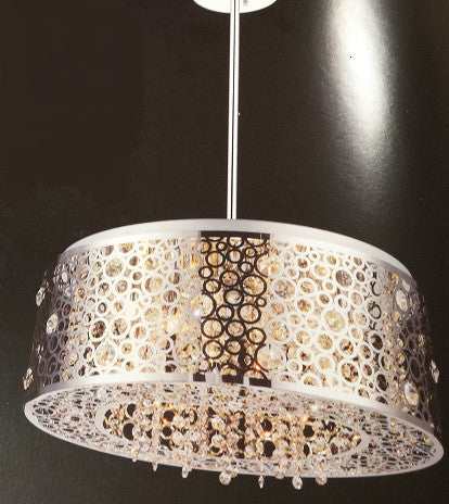 Crystal World 5536P20ST - 7 Light Chandelier - 1206459 N