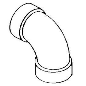 "Bow 600676 - 4"" ABS 90 ELBOW (LONG)"