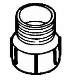"Bow 601286 - 1 1/2"" ABS MALE ADAPTER (HUB x MPT)"