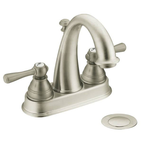 Moen 6121BN Brushed Nickel - Centerset Lav Faucet - 1139516 N