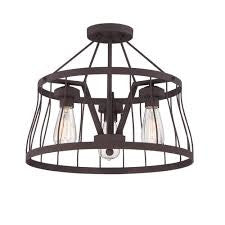 Designers Fountain 86811 BZ - 3 Light Bronze Semi Flush - 1181888 N