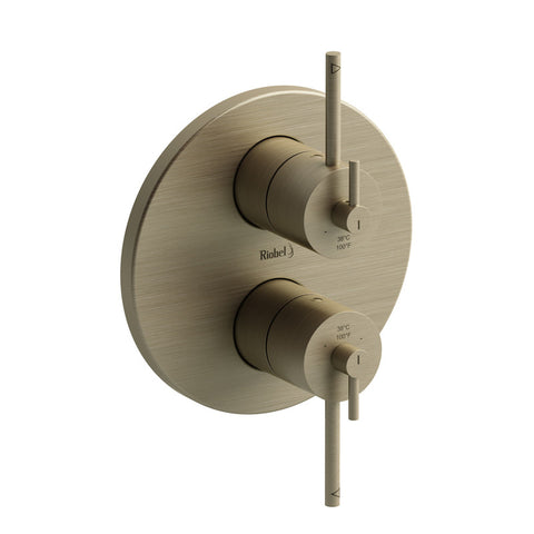 "Riobel CSTM83BN Brushed Nickel - 4 Way Type T/P (Thermostatic/Pressure Balance) 3/4"" Coaxial Complete Valve - 1179580 N"