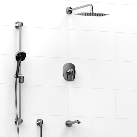Riobel KIT1345VYC Chrome - 3 Way Thermostatic/Pressure Balance Coaxial Tub/Shower System - 1202085 N