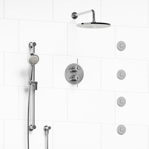 Riobel KIT483CSTMC Chrome - 4 Way Thermostatic/Pressure Coaxial Shower System - 1177162 N