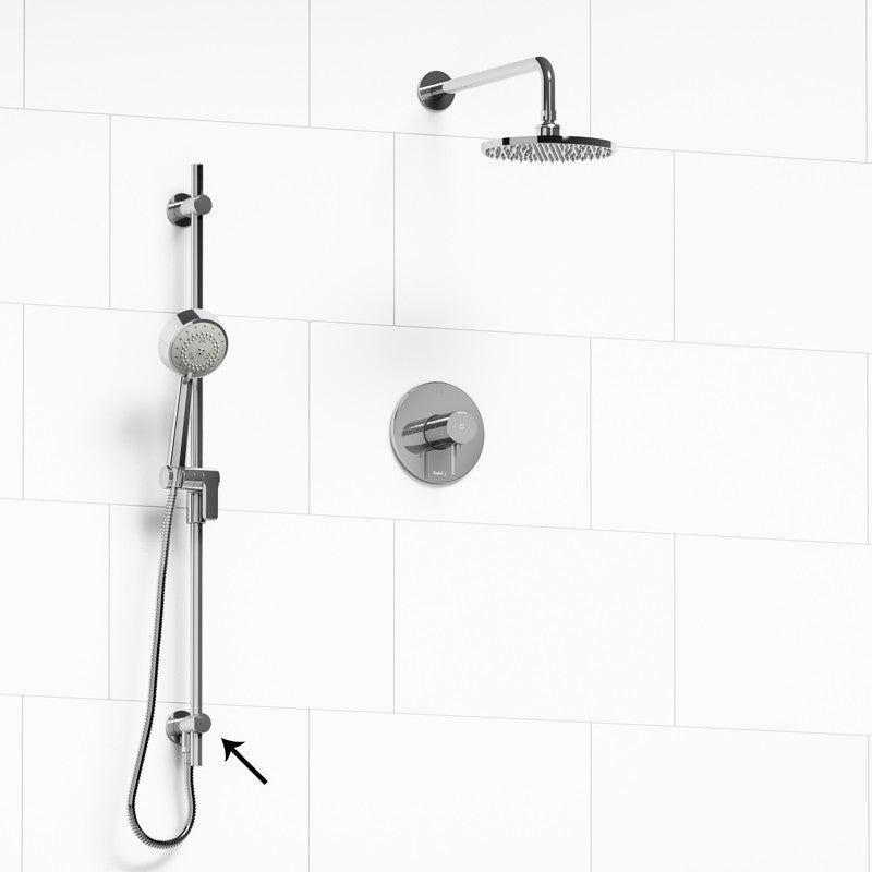 Riobel KIT6323PATMC Chrome   2 Way Thermostatic/Pressure Balance Coaxial  Shower System   1202596 N