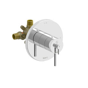 Riobel Pro NJ93C Chrome - 2 Way Thermostatic/Pressure Balance Coaxial Complete Valve - 1148294 N