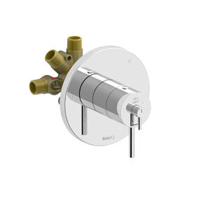 Riobel Pro NJ95C Chrome - 3 Way Thermostatic/Pressure Balance Coaxial Complete Valve - 1200647 N