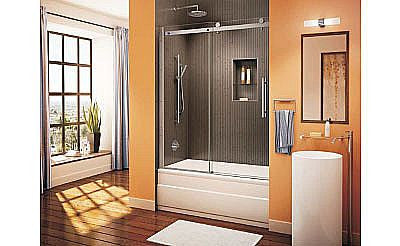 CDL6121 Bath Tub Doors - 56 3/4in - 58 3/4in