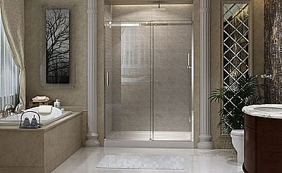 CLD6121 - Fixed Panel with Sliding Shower Doors - 48""