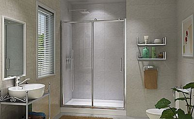 "Teago CP6121 - Fixed Panel With Sliding Doors - 70"" - 71"""