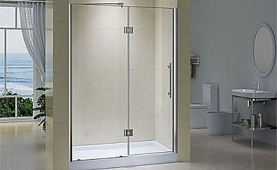 CWP6221 - Fixed Panel with Pivot Doors - 58 3/8in - 59 3/8in