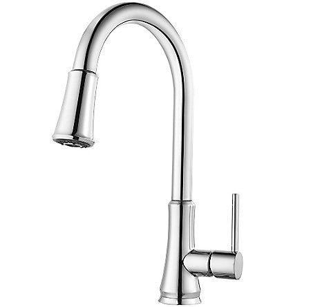 Pfister G529-PFCC Polished Chrome - Single Handle Pull Down Kitchen Faucet