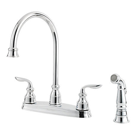 Pfister GT36-4CBC Polished Chrome - Two Handle Kitchen Faucet W/Side Spray - 1200136 N