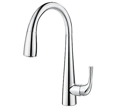 Pfister GT529-ALC Polished Chrome - Single Handle Pull Down Kitchen Faucet - 1199451 N