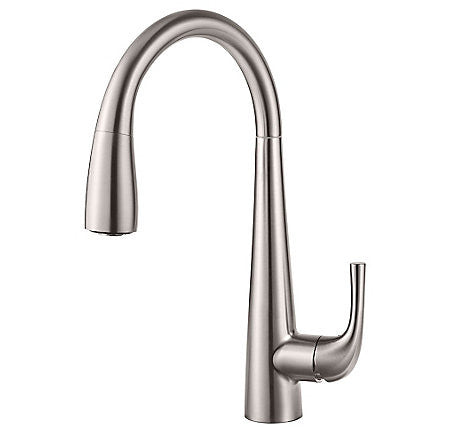 Pfister GT529-ALS Stainless Steel - Single Handle Pull Down Kitchen Faucet - 1301153 N