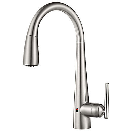 Pfister GT529-ELS Stainless Steel - Touch Free Pull Down Kitchen Faucet W/ React - 1199463 N