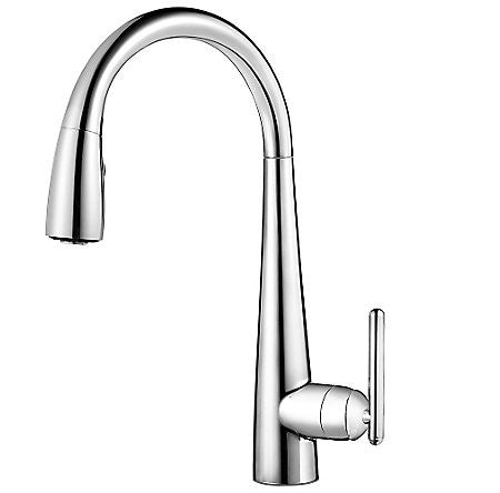 Pfister GT529-SMC Polished Chrome - Single Handle Pull Down Kitchen Faucet - 1510765 N