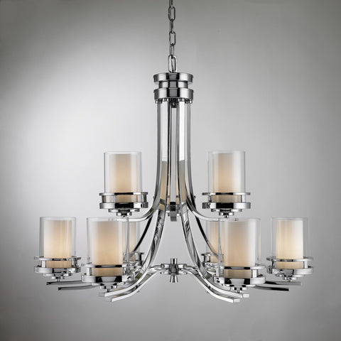 Levico LV78009H CH - 9 Light Chrome Chandelier - 1202940 N