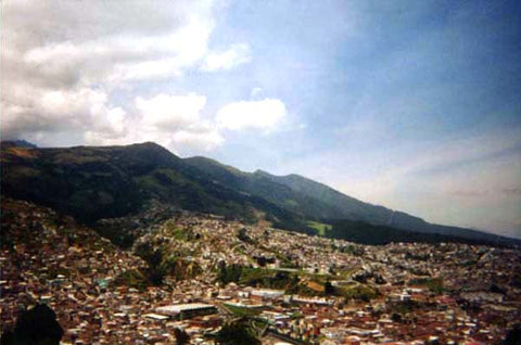 View of Quito from Our Lady of Quito on mountain top