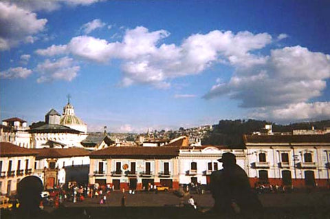 View of Quito from San Francisco Church