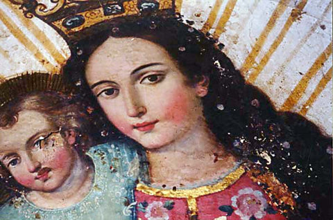 Weeping Madonna Picture in convent-enlarge and look carefully at Mary's left cheek