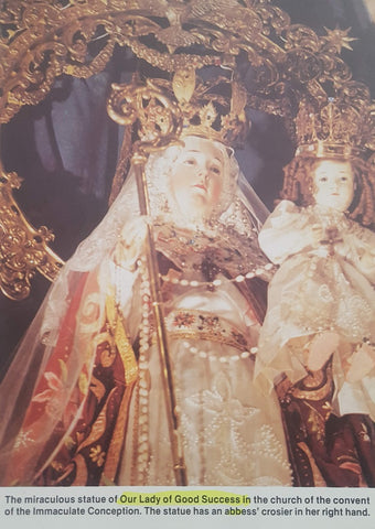 Page from Msgr Luis Cadena's book on Our Lady of Good Success