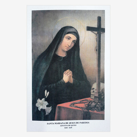 Prayer to Obtain a Favor from St Mariana de Jesus Paredes y Flores