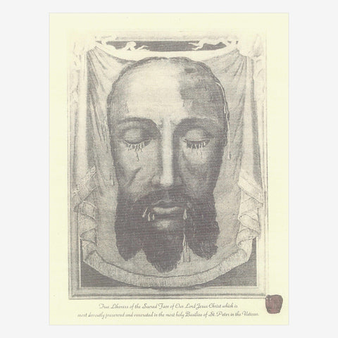 BLESSED HOLY FACE 8 x10 IMAGE OF THE VEIL OF VERONICA  - DONATION $0.50 LIMIT 1 per order