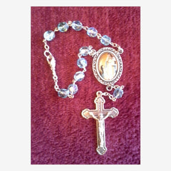 Auto Rosary of OLOGS - Aqua Beads