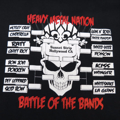 Heavy Metal Battle of the Bands Brackets Tee Shirt