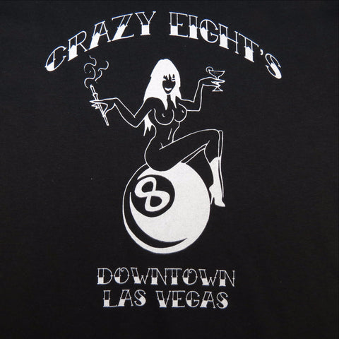 Crazy Eights Las Vegas Pool Hall Dive Bar Pin Up Girl Tee SHIRT