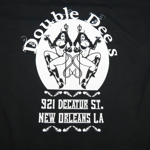 DOUBLE DEE'S NEW ORLEANS STRIP CLUB PIN UP GIRL DIVE BAR TEE SHIRT Mens