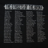 THE STREETS OF THE BRONX NEW YORK NYC TEE T SHIRT