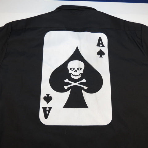 Dickies Embroidered Ace of Spades Death Card Racing Work Shirt
