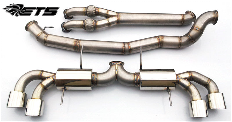 "ETS Nissan GTR 4.0"" SS Exhaust System WITH Y-Pipe (No Mufflers)"