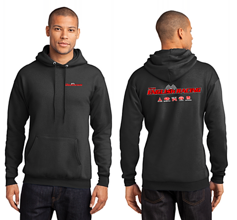 English Racing Unisex Hoodie in Black