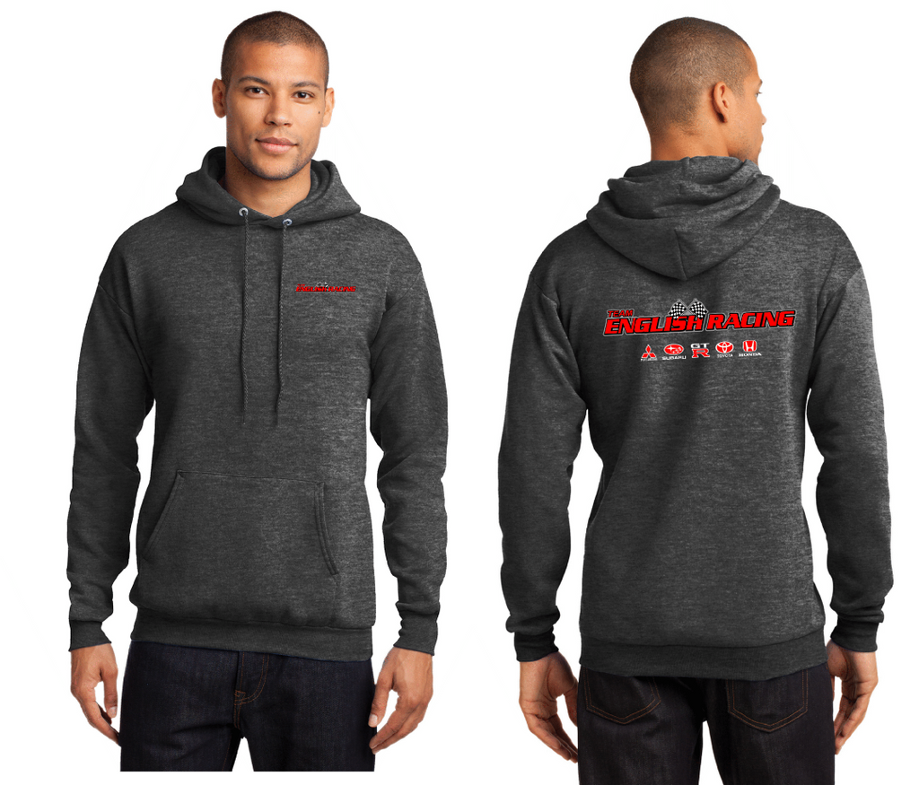 English Racing Unisex Hoodie in Grey