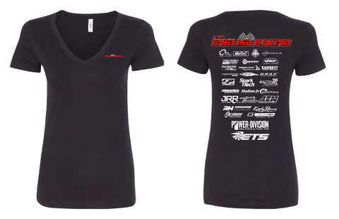 English Racing Womens Shirt in Black