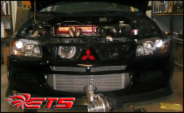 ETS Mitsubishi Evo 8 & Evolution 9 Front Facing Turbo Kit