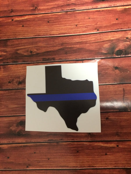 Back The Blue Texas Decal
