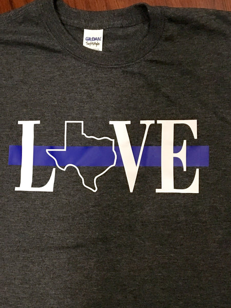 Texas Love Blue Line Tee