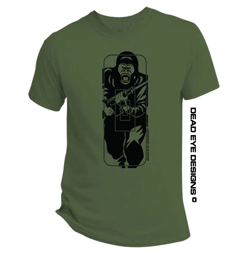 "DED Custom ""German Joerilla Target"" Green Black T-Shirt"