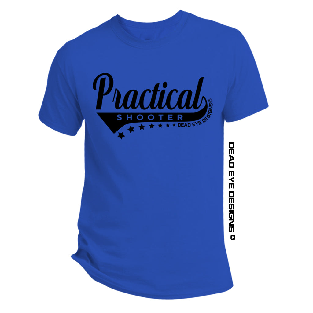 "DED Custom ""Practical Shooter"" Royal Blue Black T-Shirt"